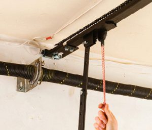 Open your garage door manually