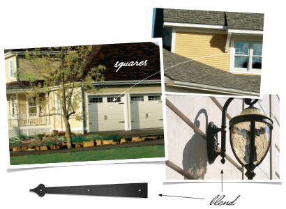 Coordinate the style of your home with your garage door