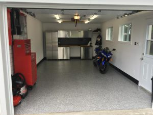 view of a garage floor