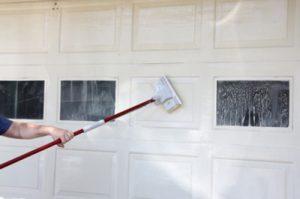 Garage Doors Staining A Metal Door In A Woodgrain Finish