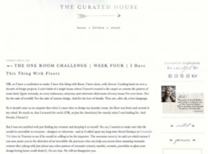 The Curated House Website