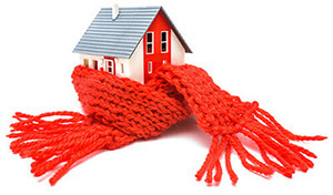 House with a red scarf
