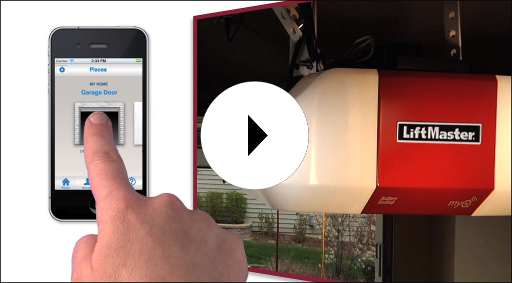 Image of the video on the LiftMaster myQ app