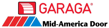 Logo Garaga and Logo Mid-America Door Company