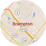 Many certified installers serving Brampton