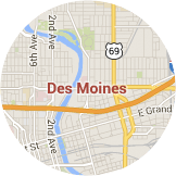 Many certified installers serving Des Moines
