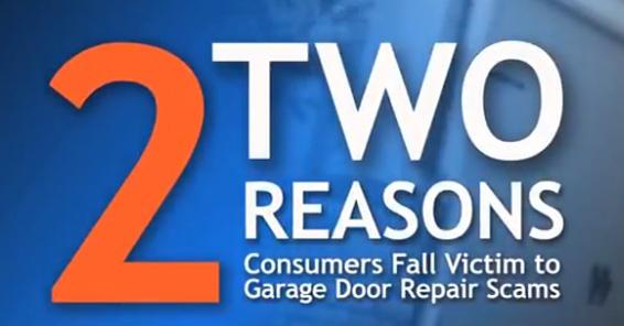 2 Reasons Consumers Fall Victims to Garage Door Repair Scams