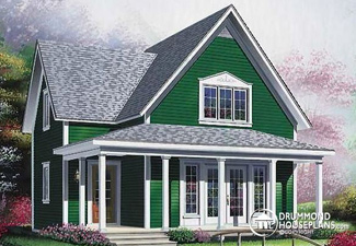 Country-style house (Plan 4594)