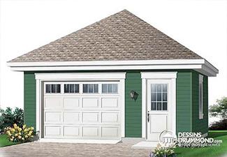 Plan de maison avec garage détaché de la maison (Plan W2991)