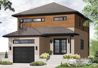 House plan with garage (Plan W3876)