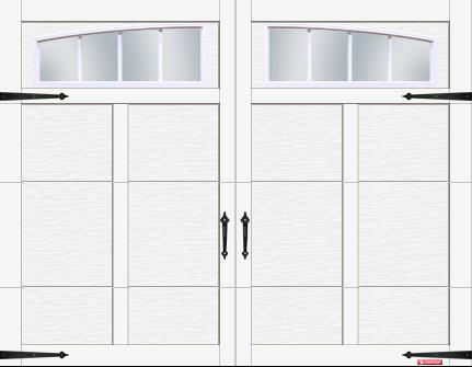 Porte Eastman avec quincaillerie décorative Standard