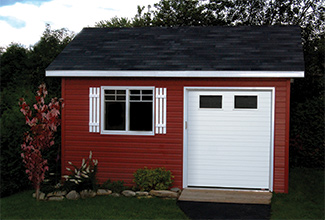 Garage door for 6' x 7' shed