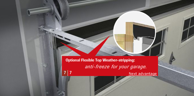 Top weatherstripping (optional)