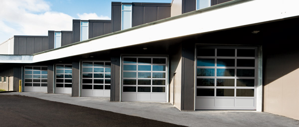 Glass garage doors with full-view 10' x 12', Automobile Dealership