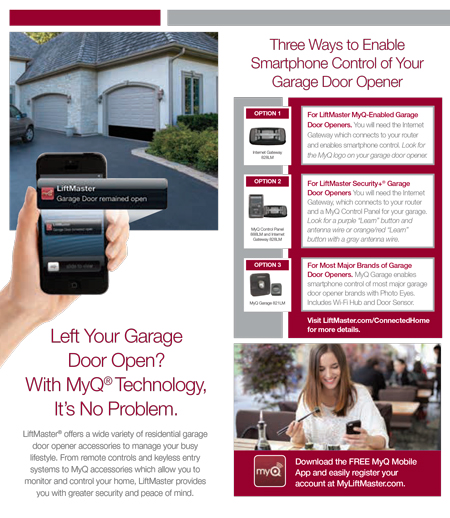 MyQ app for garage door opener