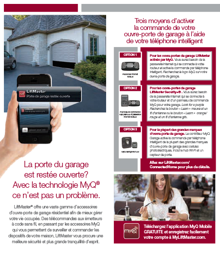Application MyQ pour ouvre-porte de garage LiftMaster
