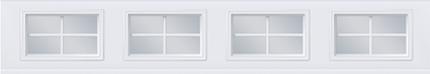 Fenêtres avec carrelage - 4 carreaux