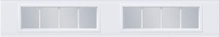 Fenêtres avec carrelage - 4 rectangles
