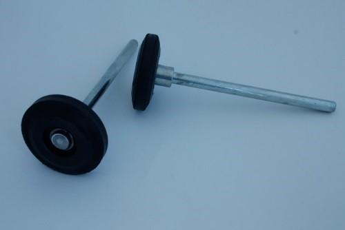 Roulette caoutchouc, remplacement
