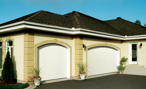 2 single garage doors, for 2 cars