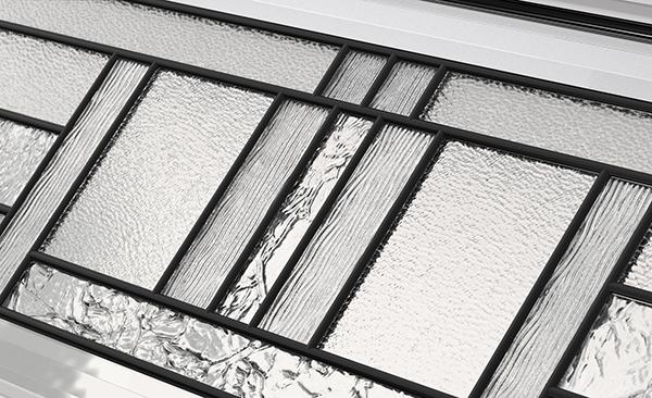 Fen tres pour portes de garage vitrail garaga for Type de verre pour fenetre