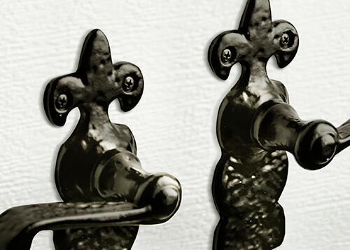 Handmade wrought iron texture