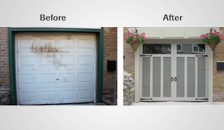 The Transformation of a Garage Door From Drab to Pizzazz