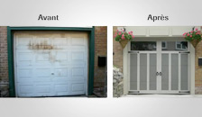 Transformation d'une porte de garage