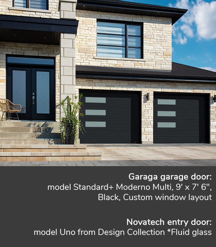GARAGA garage doors | Standard+ Moderno Multi, 9' x 7' 6'' | Novatech Entry door