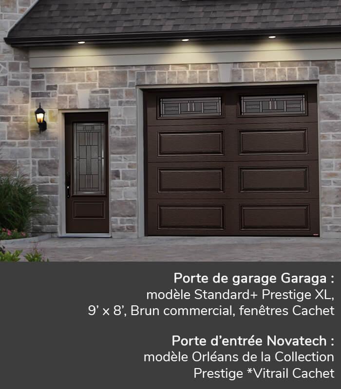 Fen tres cachet portes de garage garaga novatech for Porte de garage garaga