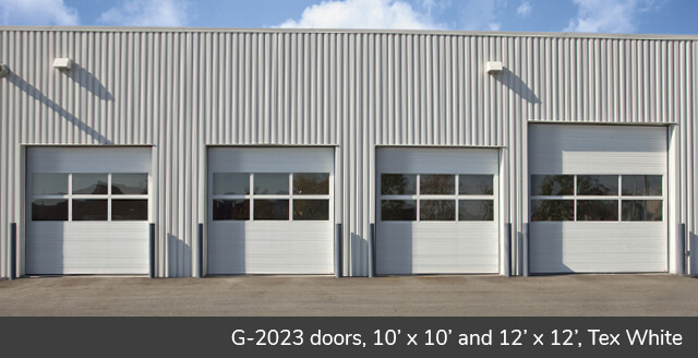 G-2020 doors, 10' x 10' and 12' x 12', Tex White