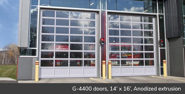 G-4400 doors, 14'x16' Anodized