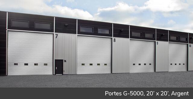 Portes G-5000, 20' x 20', Argent