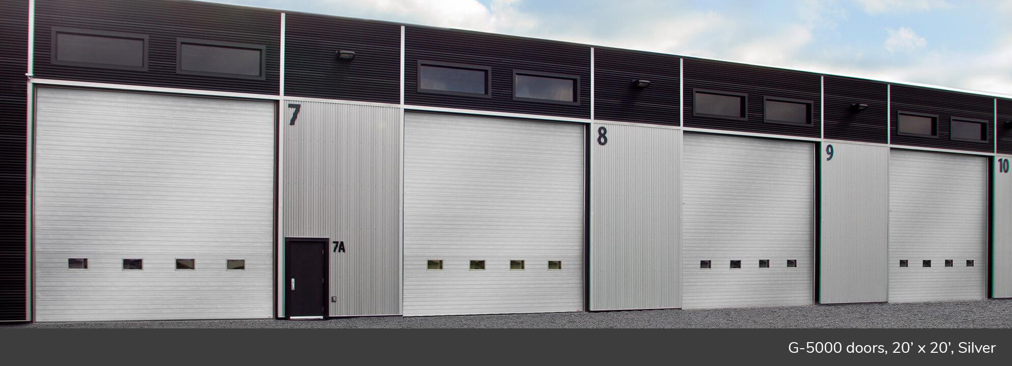 G-5000 doors, 20' x 20', Silver
