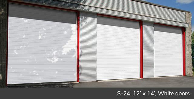 S-24, 12' x 14', White doors
