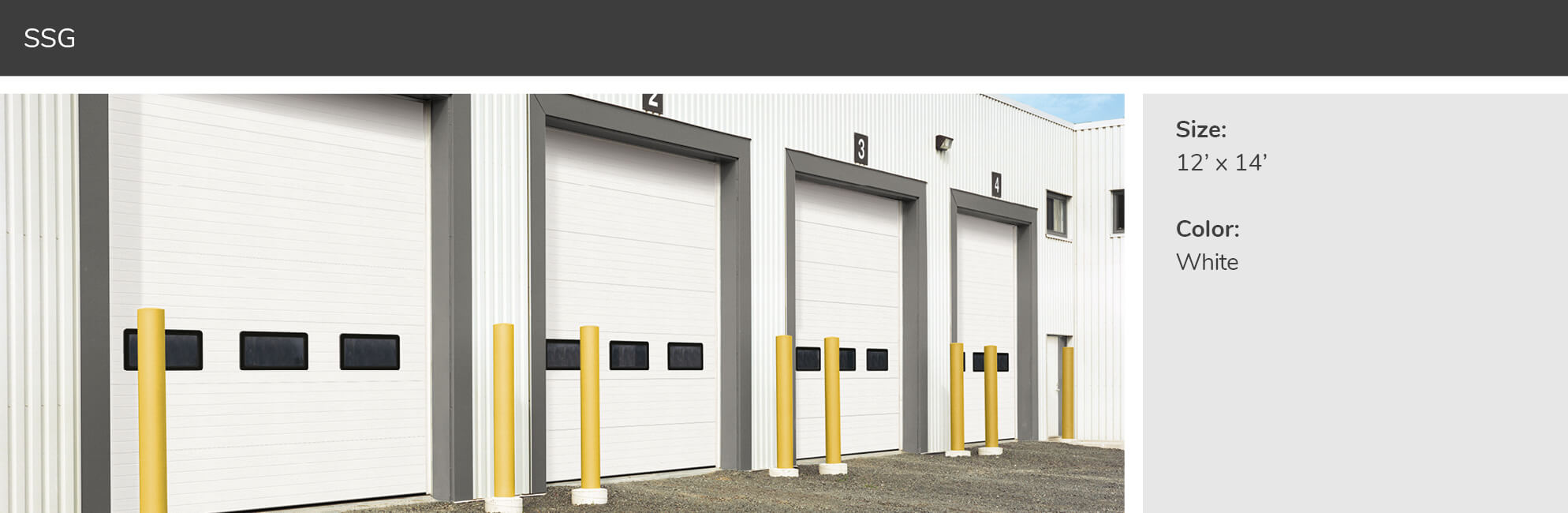 SSG, 12' x 14', White doors​
