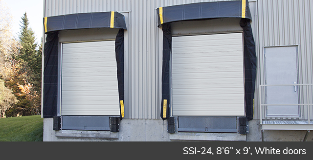"SSI-24, 8'6"" x 9', White doors​"