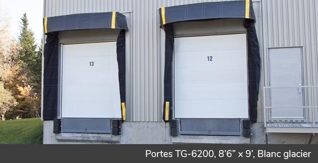 Portes TG-6200, 8' x 9', Blanc glacier