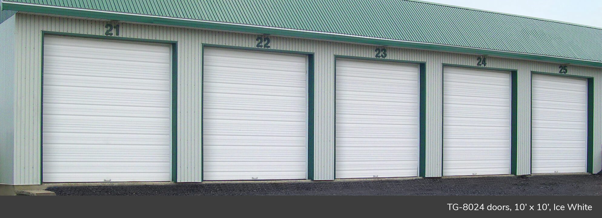 TG‑8024 doors, 10' x 10', Ice White