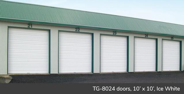 TG‑8024 doors, 10' x 10', Ice White