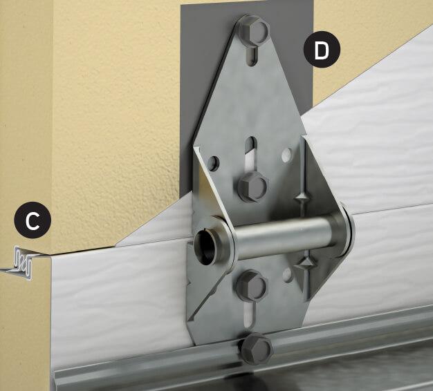 Dessin technique de joints Interlok triple contactet de plaques d'acier