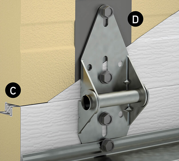 Dessin technique de joints Interlok triple contact et de plaques d'acier