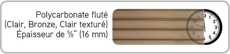 Polycarbonate Fluté