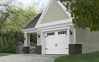 Triforce Shaker-NH LP, 9' x 7', Blanc glacier, fenêtres avec Appliques Stockton