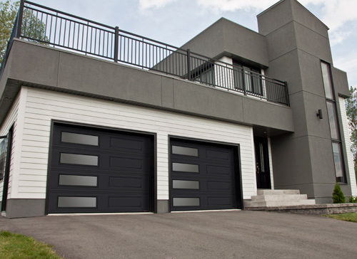Contemporary Garage Doors Garaga - Porte garage double