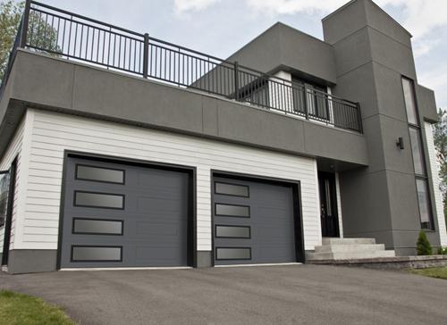 Garaga   Standard+ Classic XL, 9u0027 X 7u0027, Charcoal, Window Layout