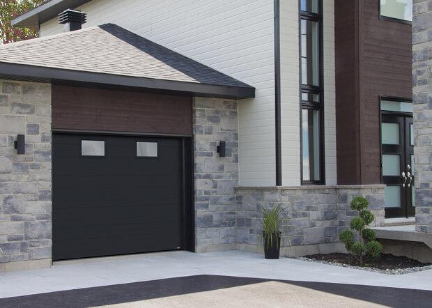 Standard+ Moderno Multi, 9' x 7', Noir, verre Satiné