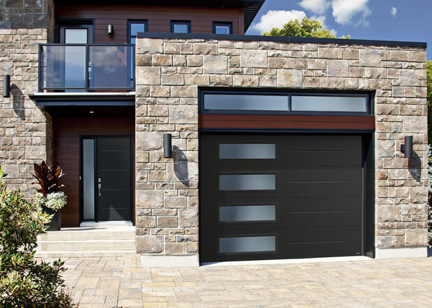 Contemporary garage doors garaga for Garage man door