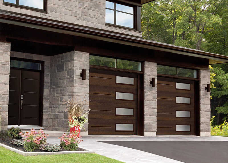 Contemporary House Garage Doors