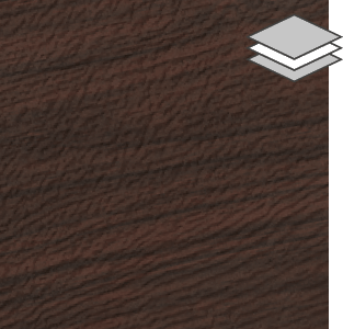 Dark Walnut color for steel Garaga garage doors